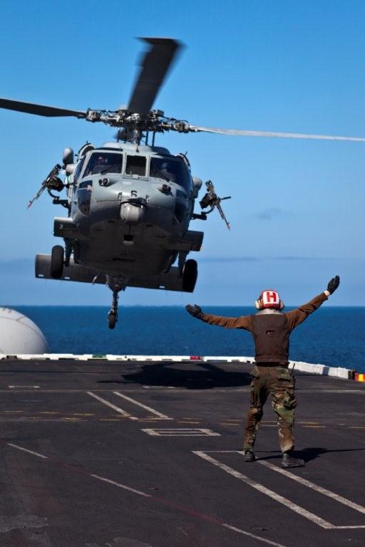 Helo landing