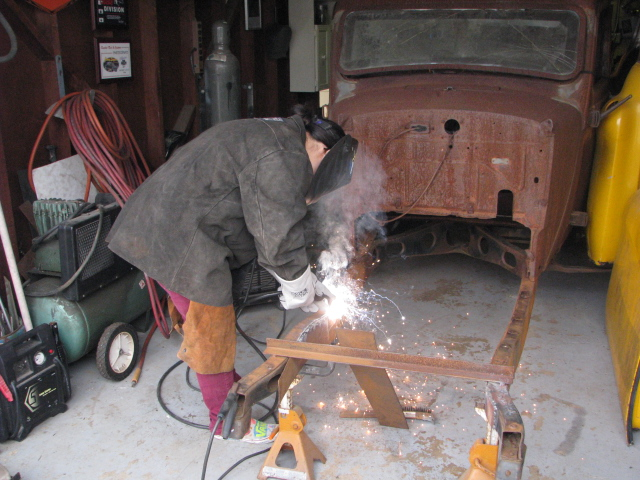 Marley working on truck 001