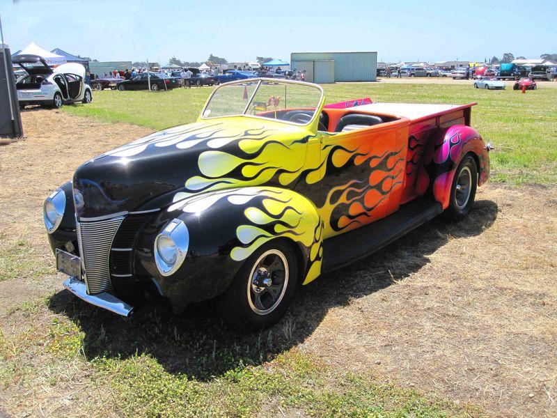 Rainbow Flames Car Dream Machines Show 2011