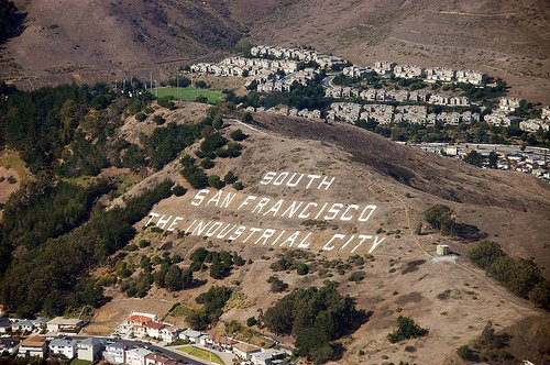 Sign hill aerial