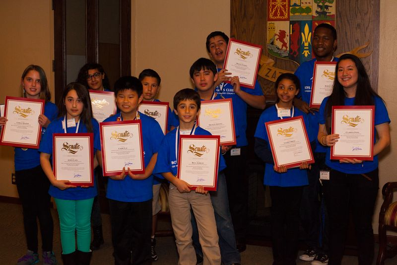 YoY 2014 Awardees with State Senate Certificates