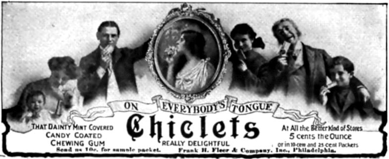 1905 Chiclets ad