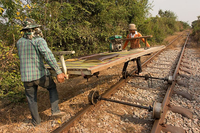 11-Battambang bamboo train