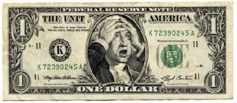 Funny dollar bill