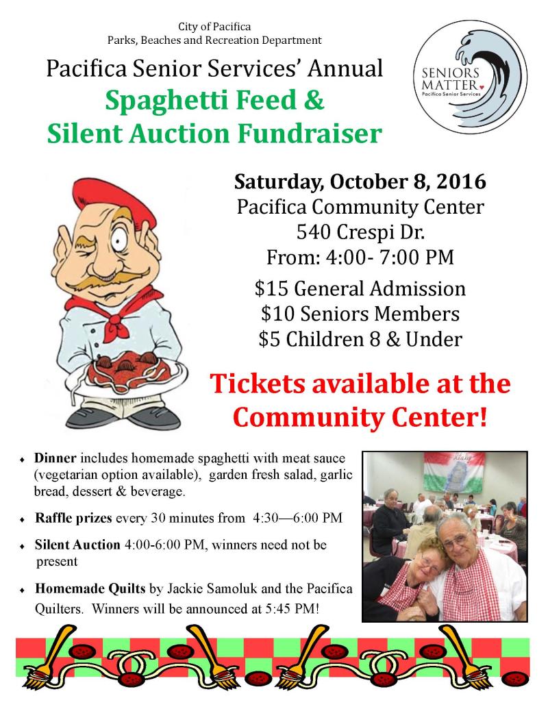 2016 Spaghetti Feed Flyer