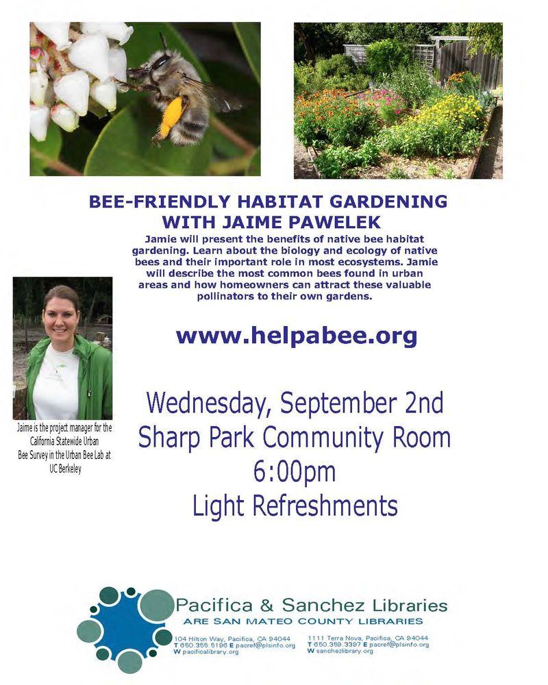 Flyer 2015-sept-2 Bee Garden Pacifica Sharp Park small