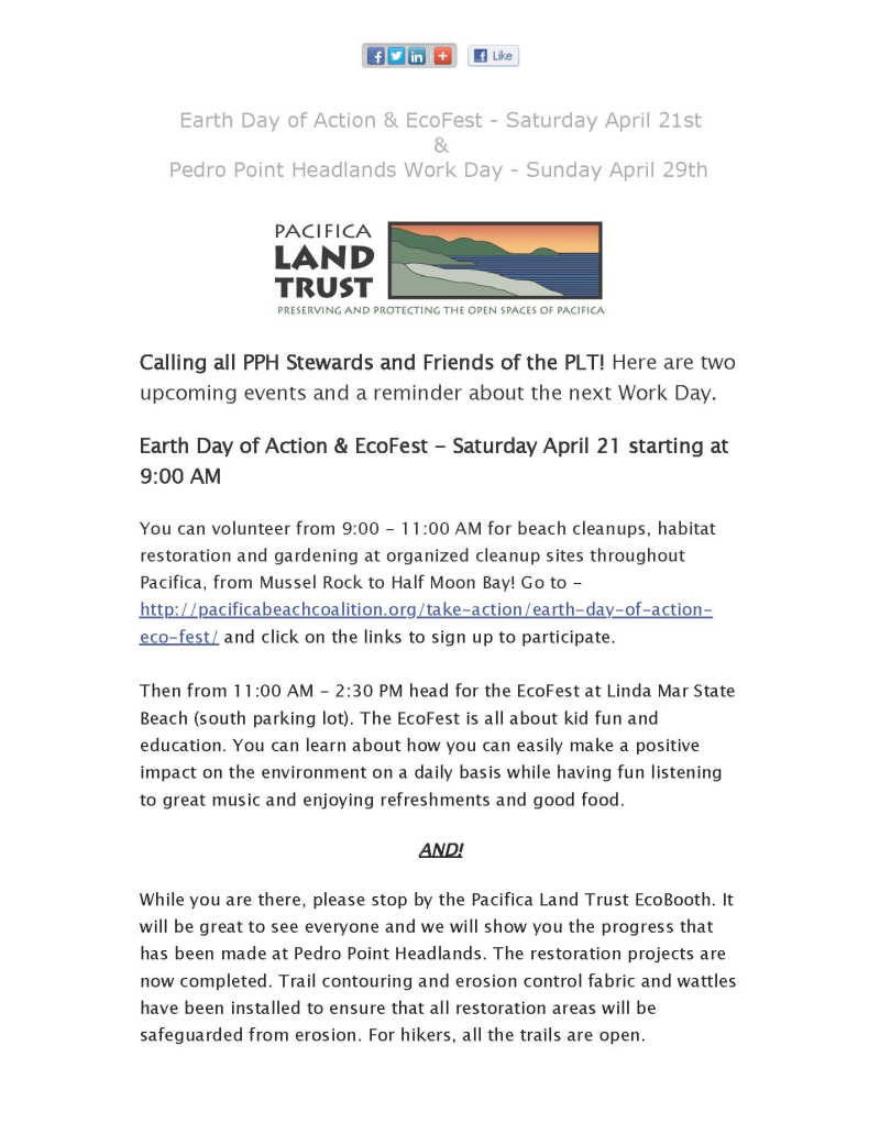 Earth Day of Action & EcoFest - April 21st & Pedro Point Headlands Work Day - April 29th_Page_1