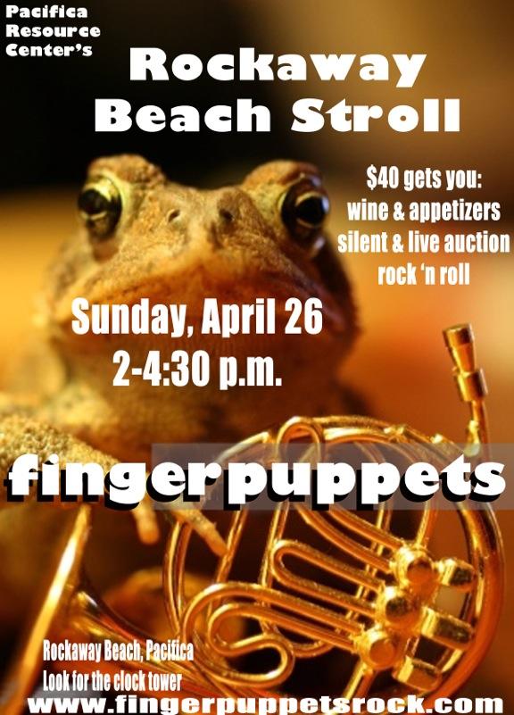 Fingerpuppets4-25-15 Rockaway Beach Stroll