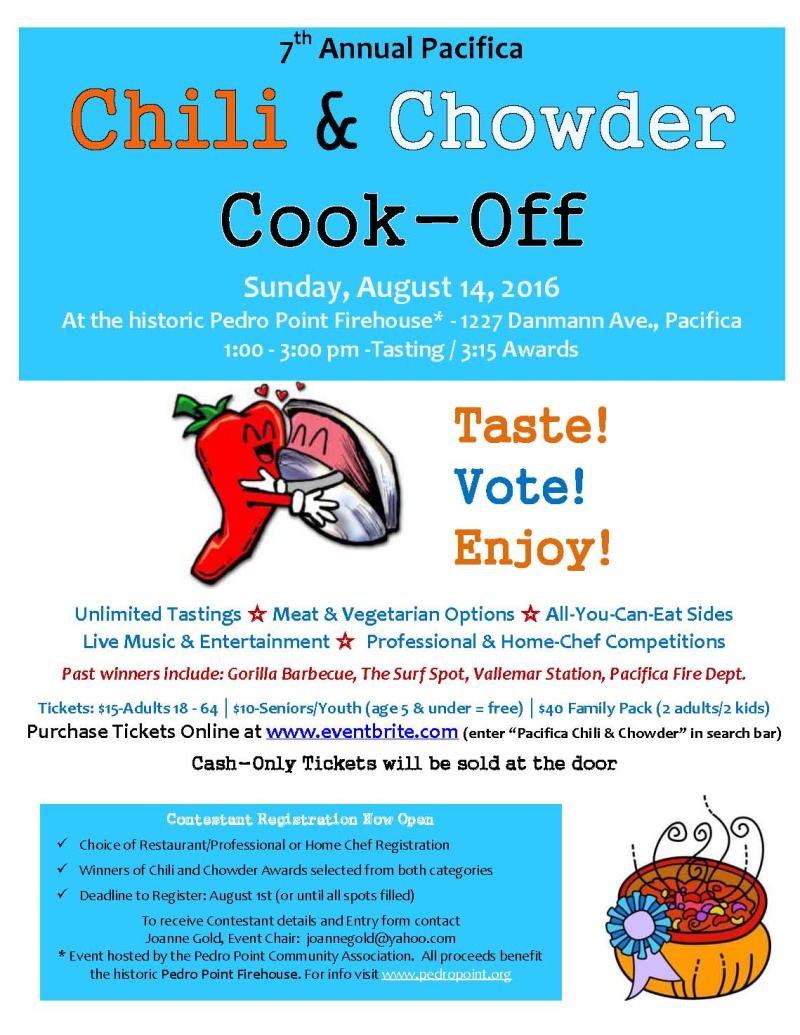 2016 Chili Chowder Event Flier - 1