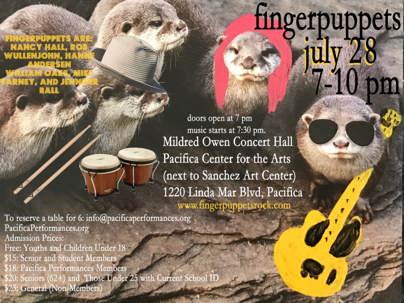 New Fingerpuppets Pac Perf July 28