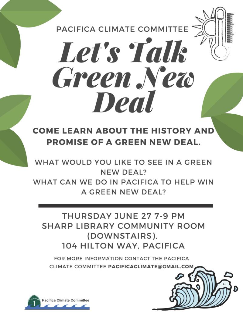 Let's talk Green New Deal flyer PCC June 27 med qual