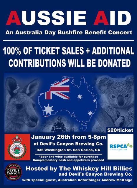 Aussie Aid Concert Flyer