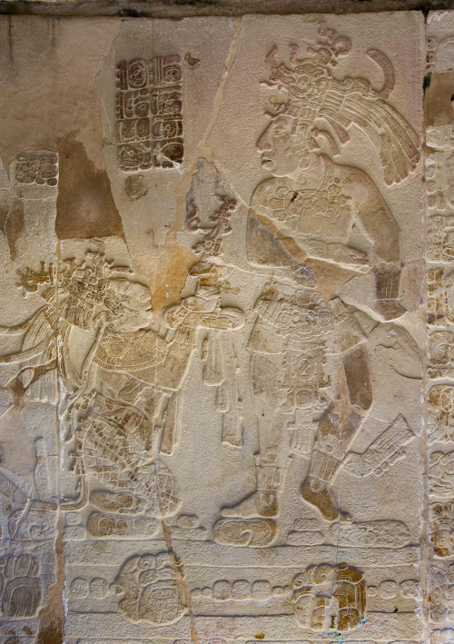 Mexico 48 Palenque Templo XIV Mayan relief
